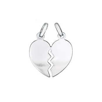 Italian Sterling Silver Breakable Heart Pendant
