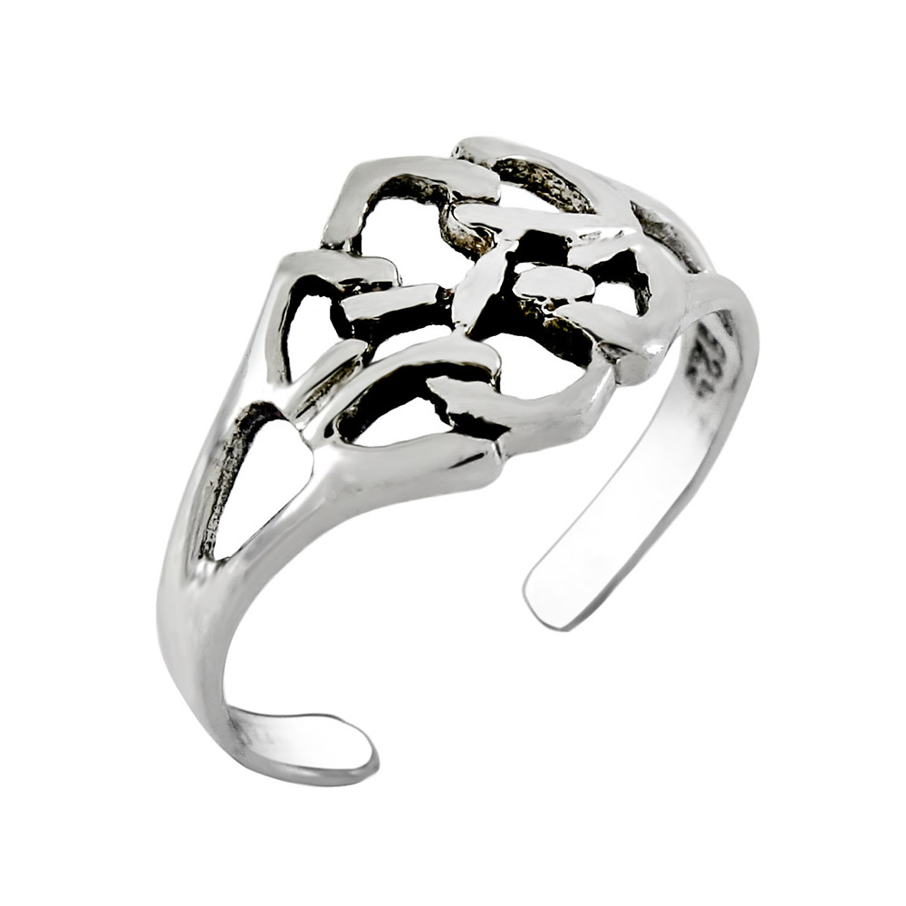 Sterling Silver Celtic Symbol Toe Ring