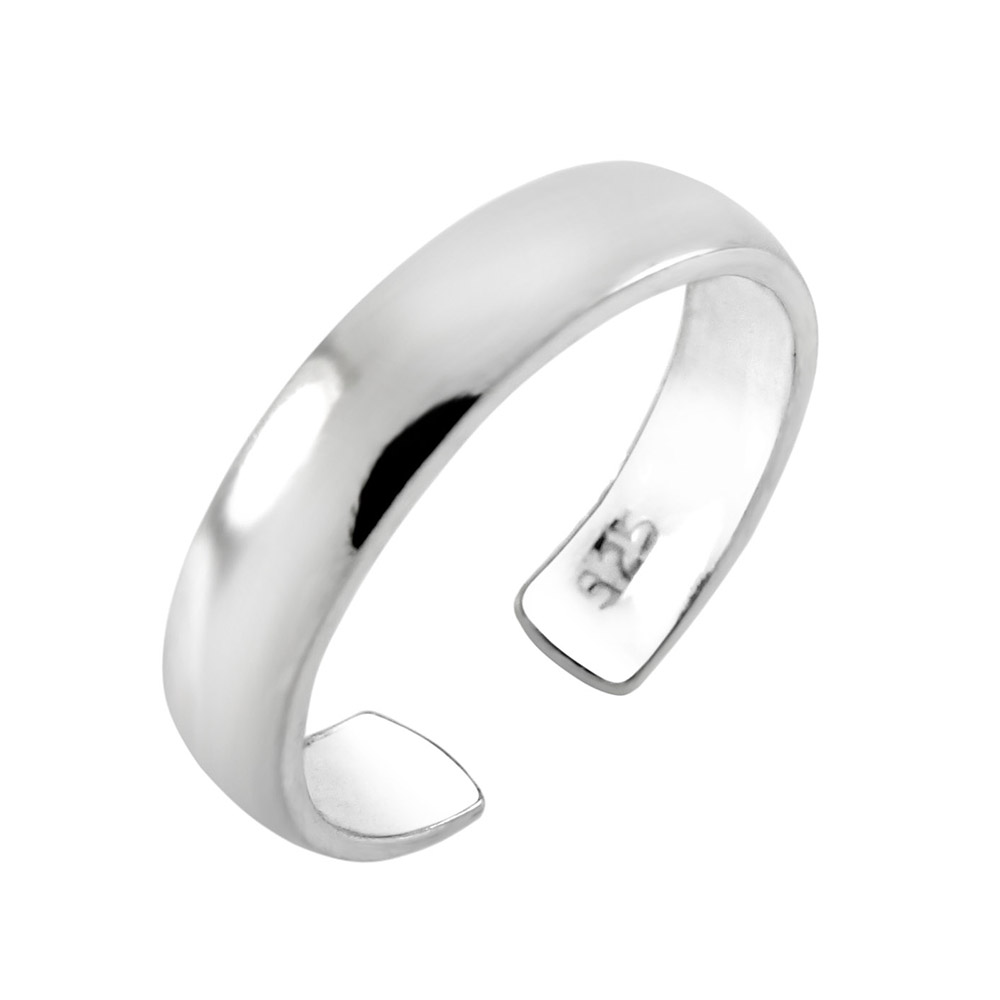 Sterling Silver Plain Toe Ring