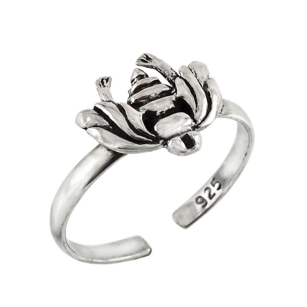 Sterling Silver Bee Toe Ring