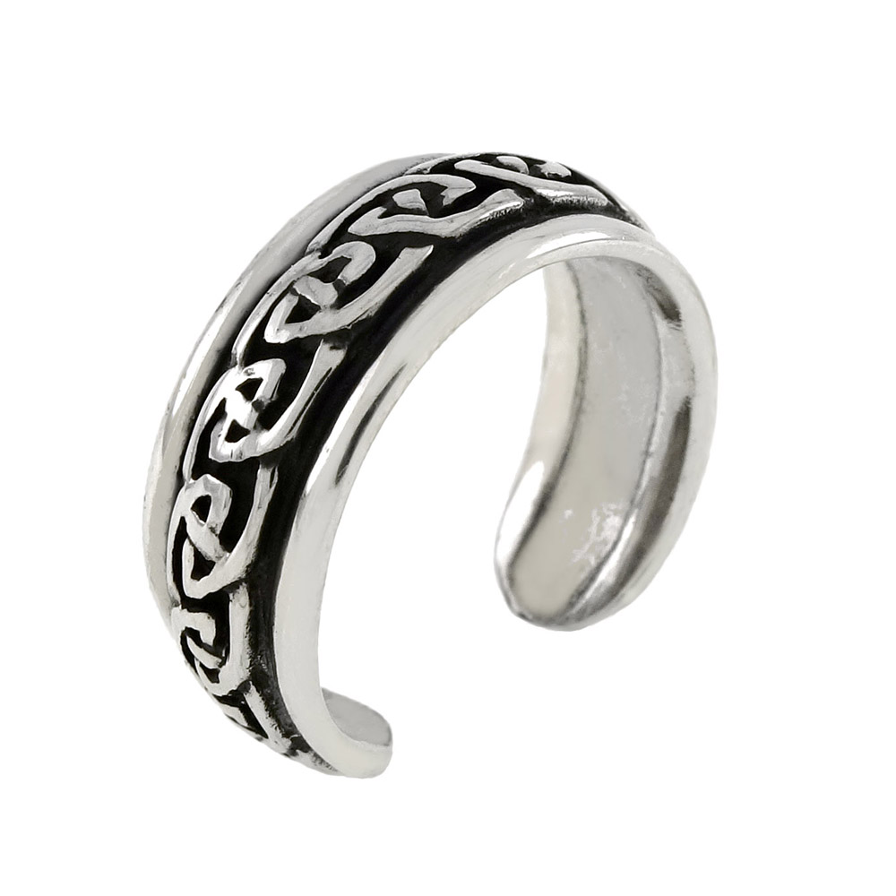 Sterling Silver Celtic Oxidized Toe Ring