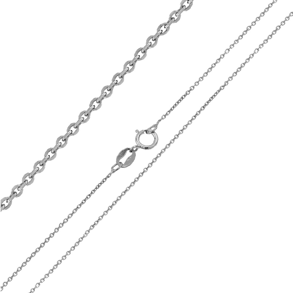 Italian Sterling Silver 0.8mm Rolo D/C Chain