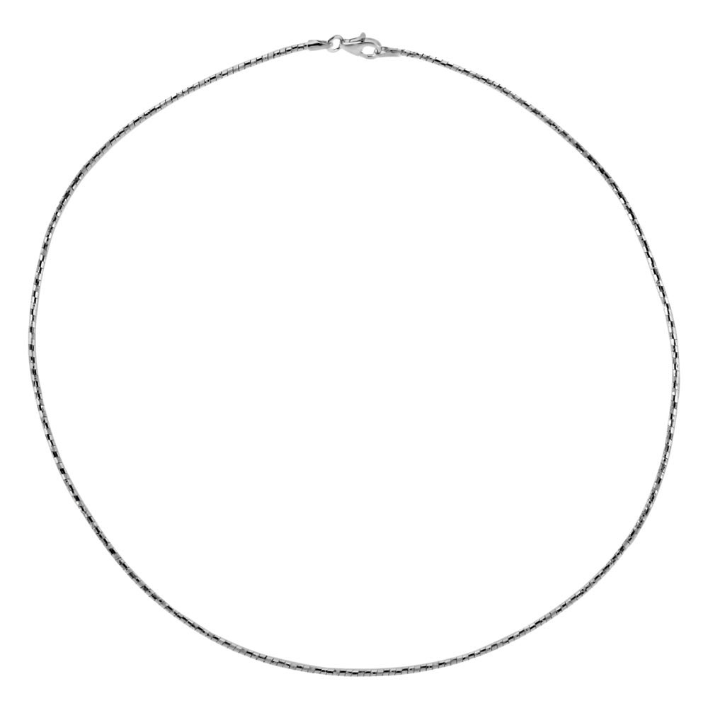 Italian Sterling Silver D/C Round Omega Choker Necklace