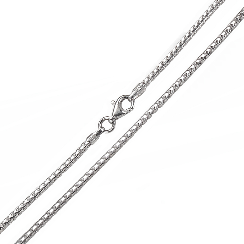 Italian Sterling Silver 1.5mm Franco Chain