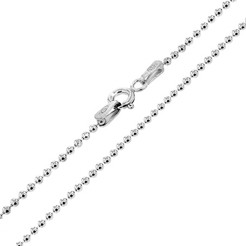 Italian Sterling Silver 1.8mm Bead Chain