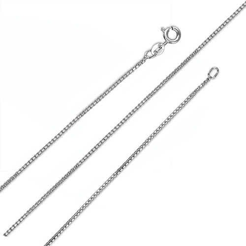 Italian Sterling Silver 0.8mm D/C Box Chain