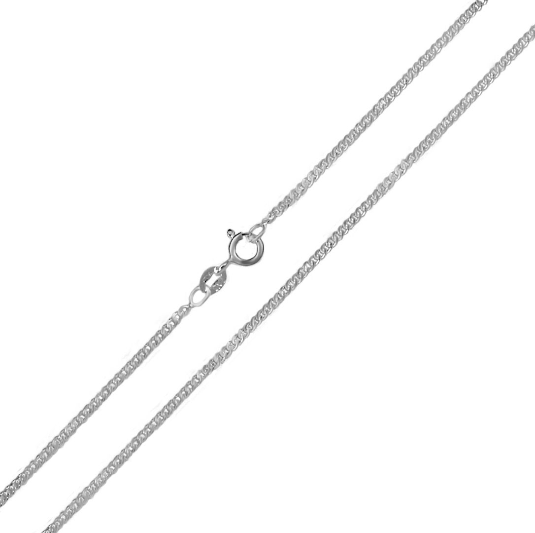 Italian Sterling Silver 1.5mm Curb Chain