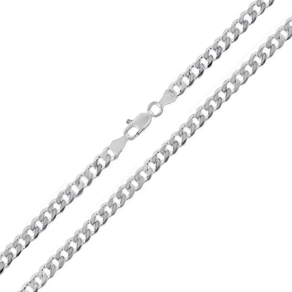 Italian Sterling Silver 3mm Flat Curb Chain