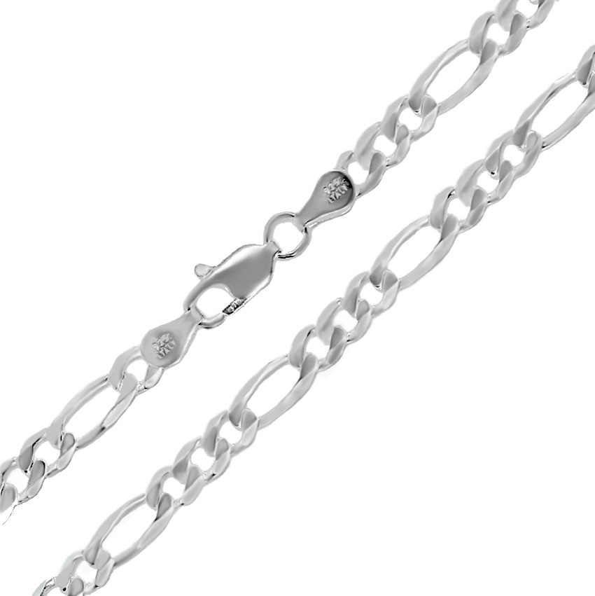 Italian Sterling Silver Figaro 7mm chain