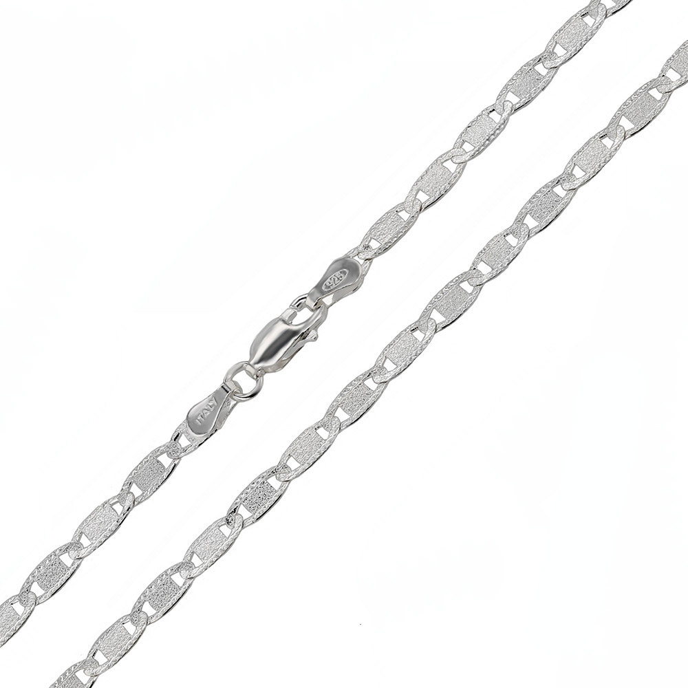 Italian Sterling Silver 3.8mm D/C Valentin Chain