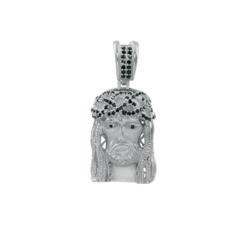 Sterling Silver Jesus Chirst CZ Pendant