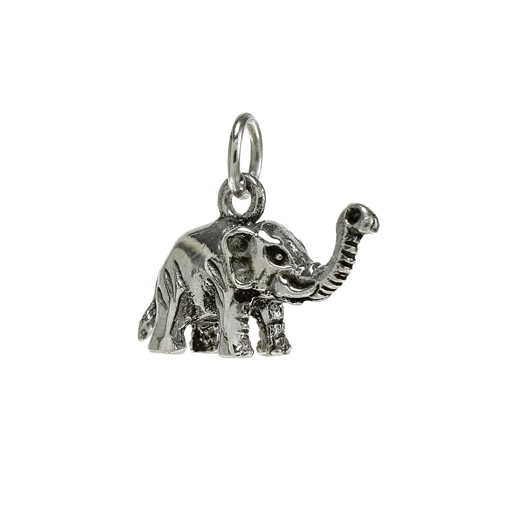 Sterling Silver Oxidized Elephant Pendant