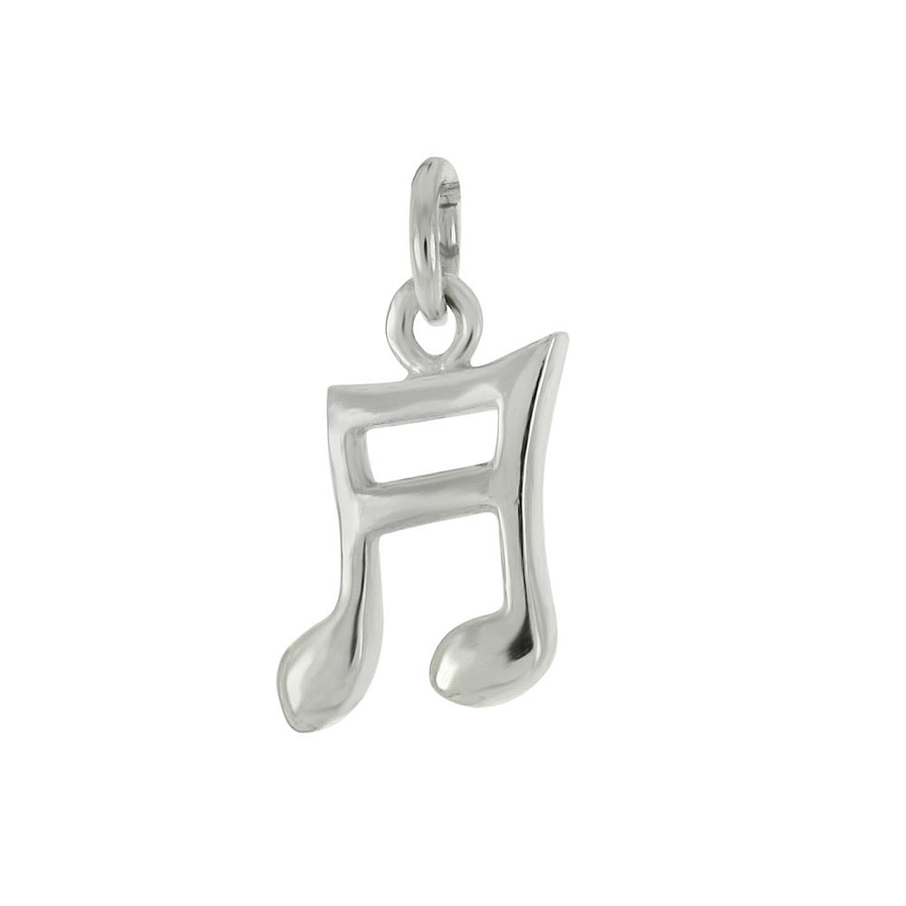 Sterling Silver High Polish Musical Note Pendant