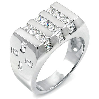 925 Silver Princess CZ Ring