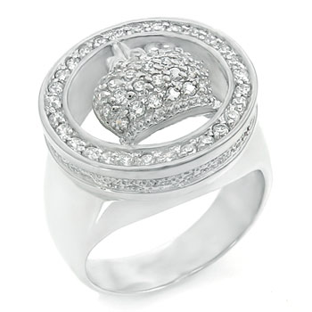 925 Silver Cubic Zirconia CZ Crown Men Ring