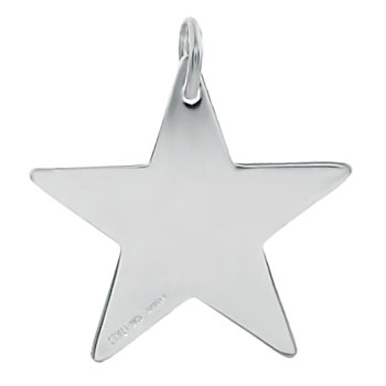 Sterling Silver Engravable Star Pendant