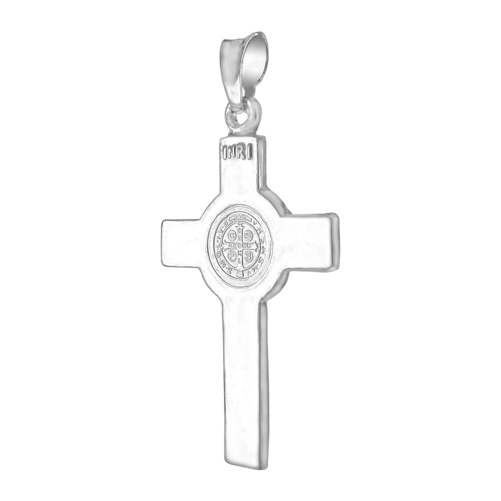 Sterling Silver Double Sided San Benito Cross Pendant