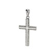 Sterling Silver Cubic Zirconia Cross Rhodium Pendant