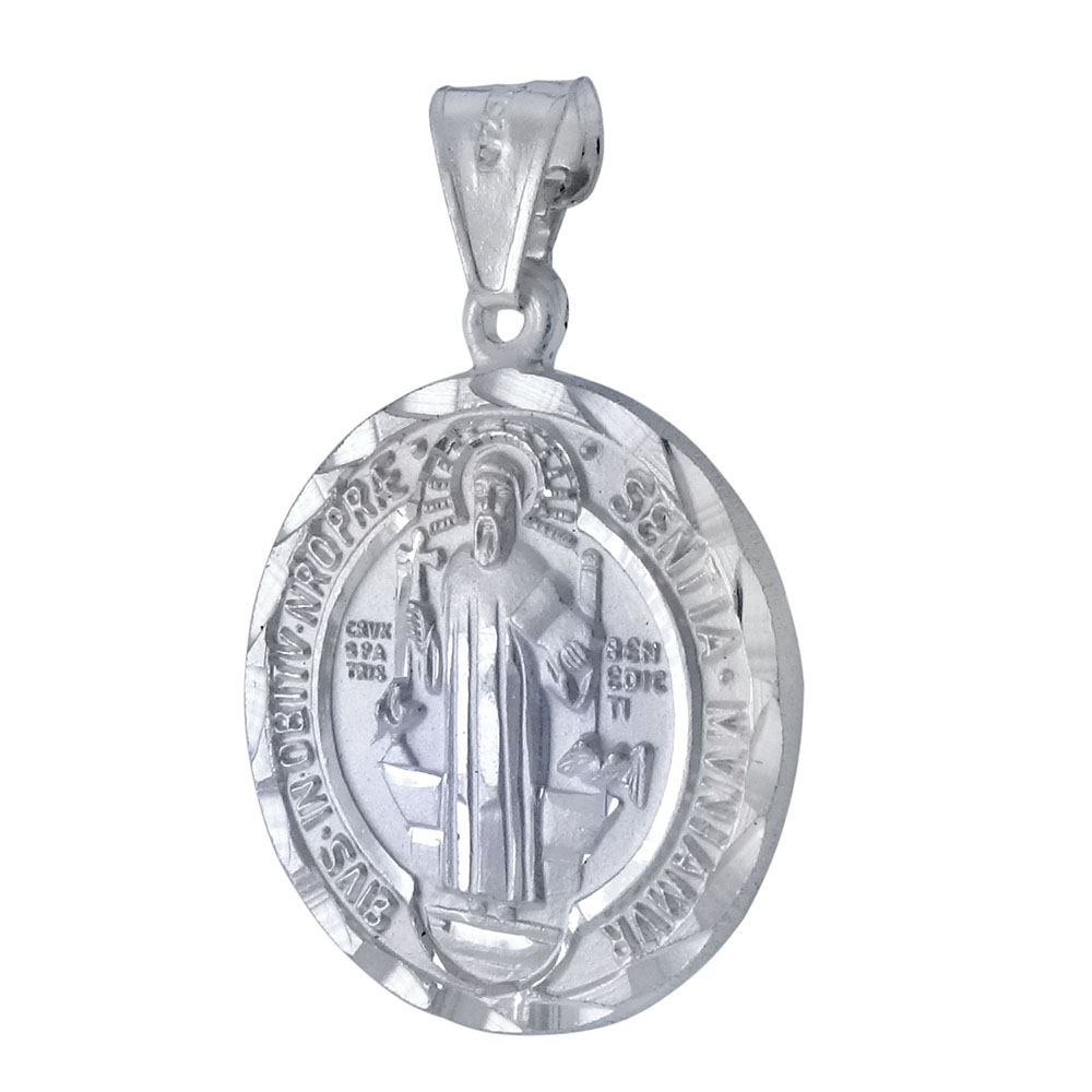 Sterling Silver D/C SAN BENITO Medal Pendant