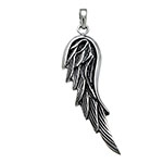 Sterling Silver Oxidized Wing Pendant