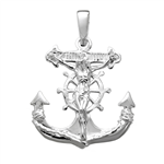 Sterling Silver Crucifix Anchor Pendant