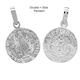 Sterling Silver Double-Side San Benito Medal Pendant