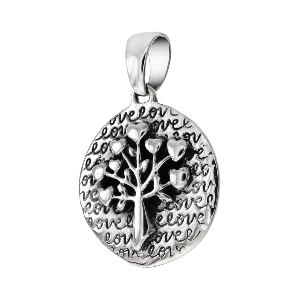 Sterling Silver Oxidized Tree Of Life Pendant