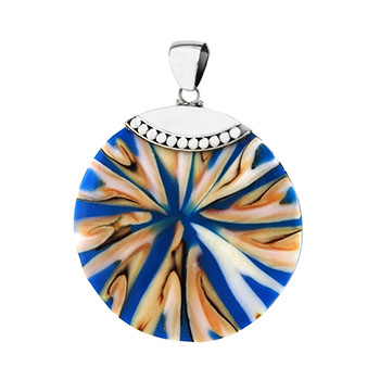 Sterling Silver Bali Shell Pendant