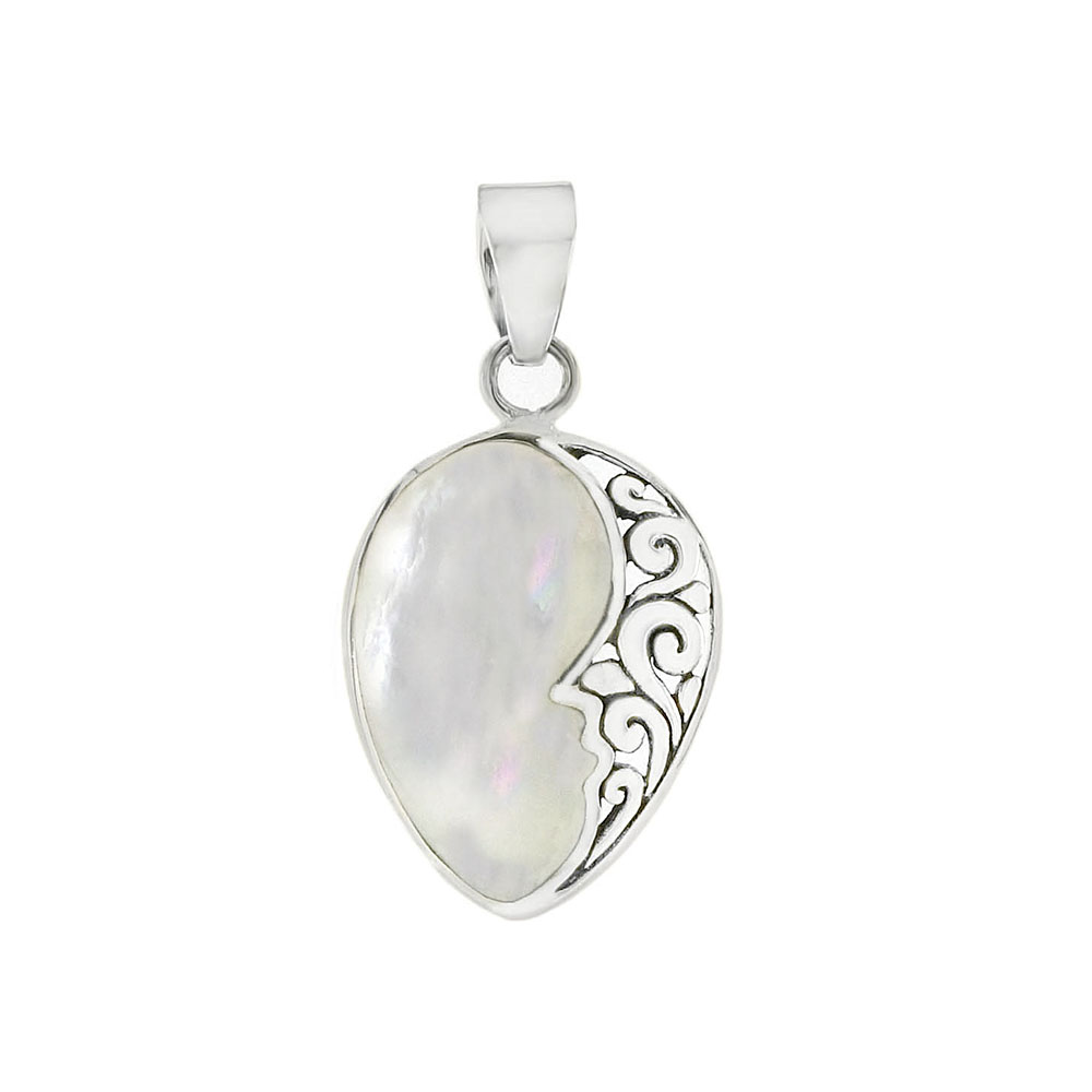 Sterling Silver Pearl Shell Pendant