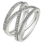 Sterling Silver Cubic Ziconia Stackable Ring Set