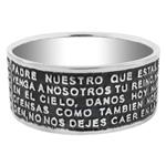 Sterling Silver Bible Verse Oxidized Band Ring