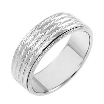 Sterling Silve D/C Spinning Band Ring