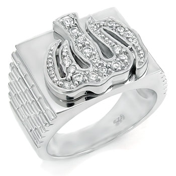 Sterling Silver Cubic Zirconia CZ Man Ring