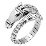 Sterling Silver Oxidized Horse Ring