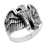 Sterling Silver Flying Eagle Oxidized Ring