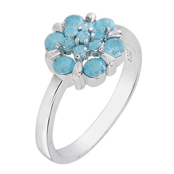 Sterling Silver Cubic Zirconia Crash Stone Ring
