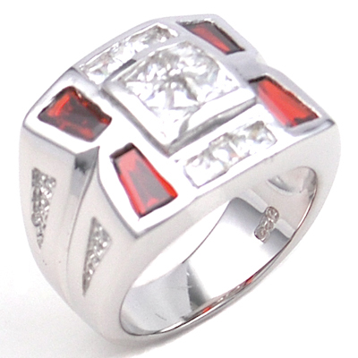 925 Silver Cubic Zirconia CZ Man Ring