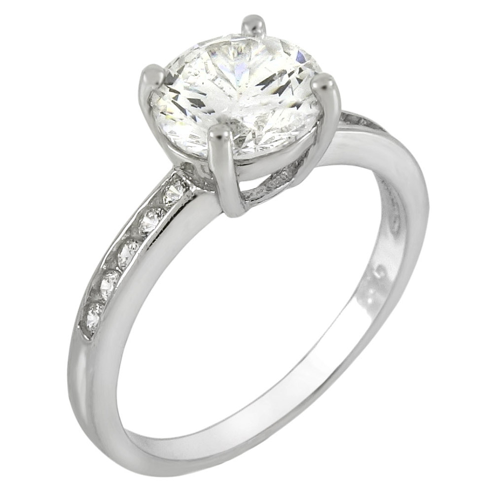 Sterling Silver Cubic Zirconia Promise Ring