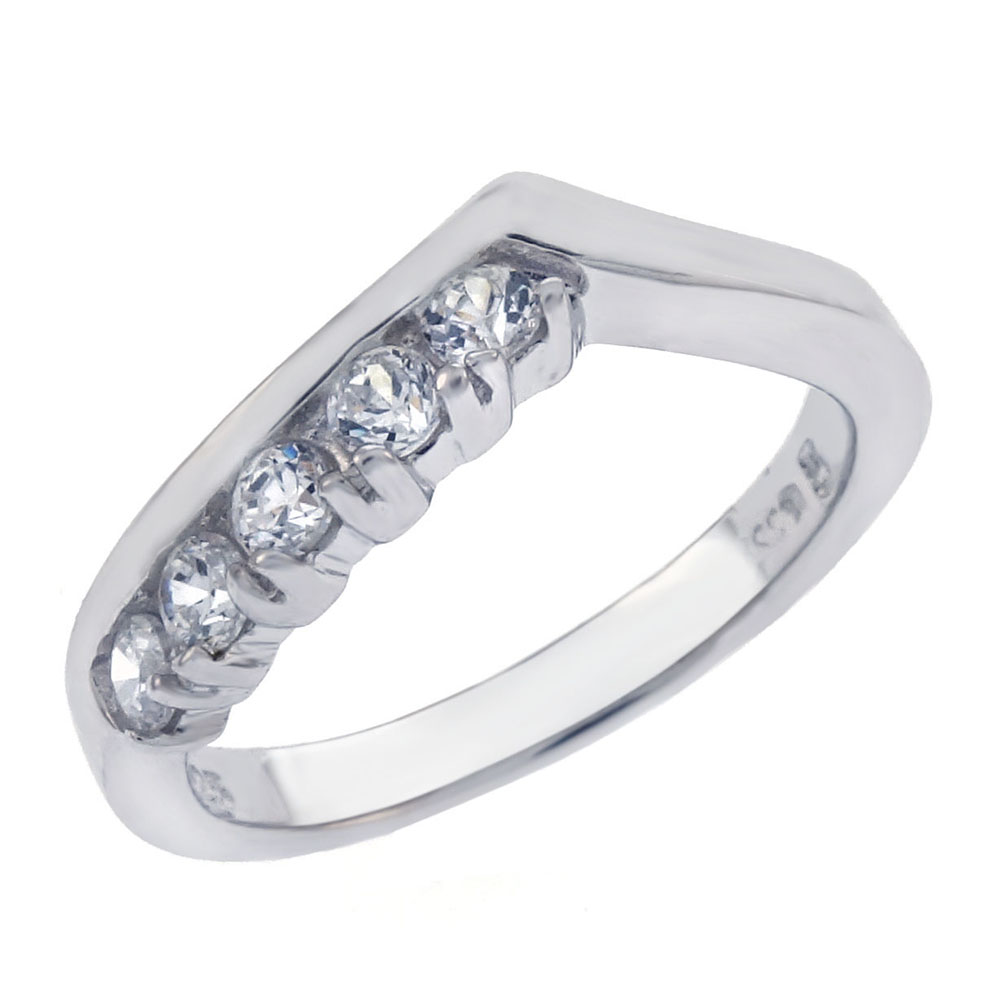 Sterling Silver Cubic Zirconia Band Ring
