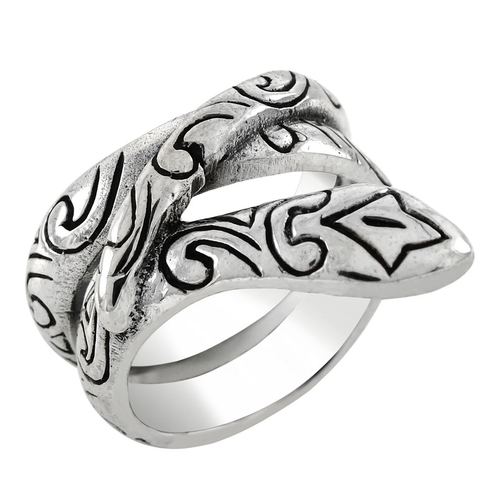 Sterling Silver Cobra Oxidized Ring