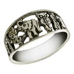 Sterling Silver Oxidized Lucky Ring