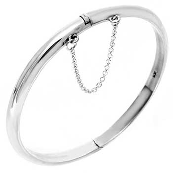 Sterling Silver 5mm Plain Hollow Bangle