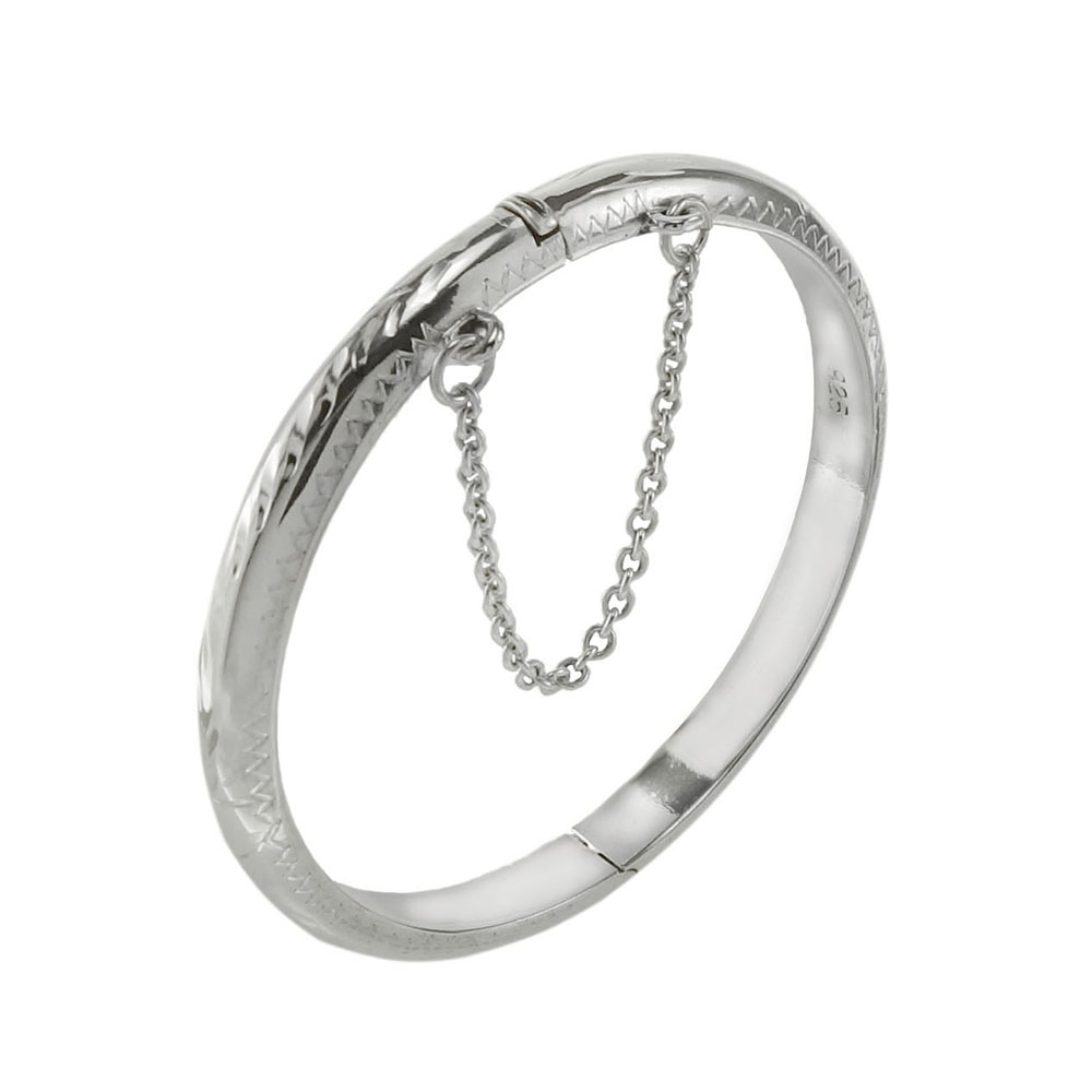 Sterling Silver Engrave Baby Bangle