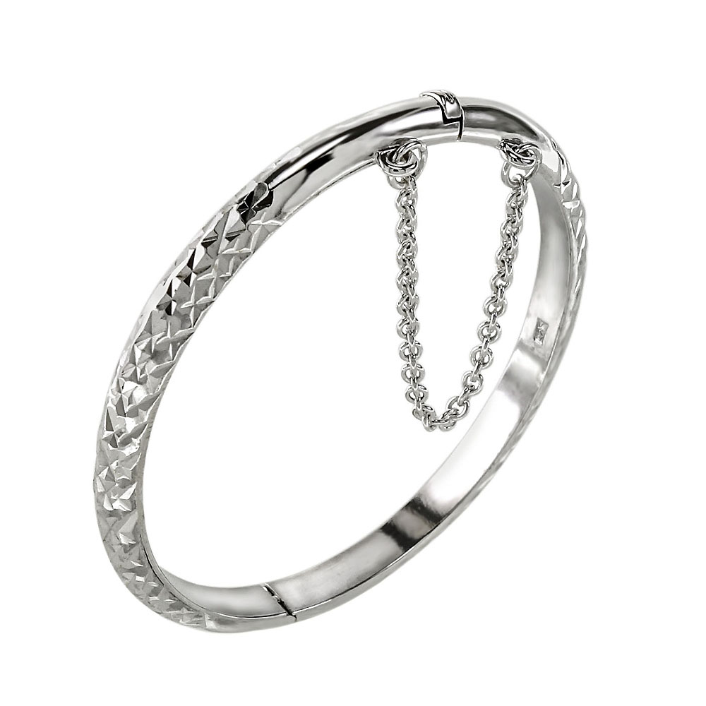 Sterling Silver D/C Baby Bangle