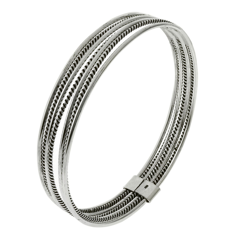 Sterling Silver 7-Day Bangle Bracelet
